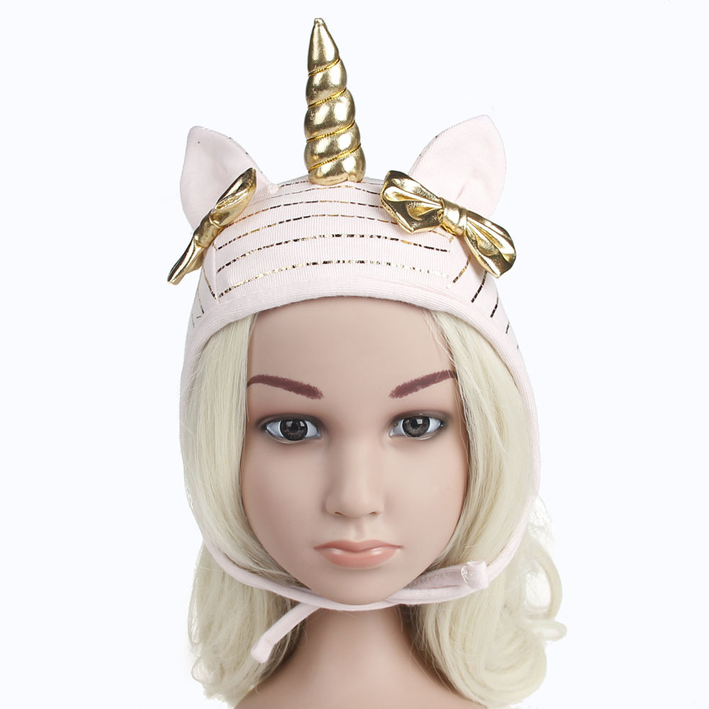 4769ffbbc86eb 1pcs 2018 Newest Kid Skullies Beanie hats Cute Soft Children Unicorn  Cosplay Cap with Handmade Girls Boys Girls Rabbit Ears Hat-in Hats   Caps  from Mother ...