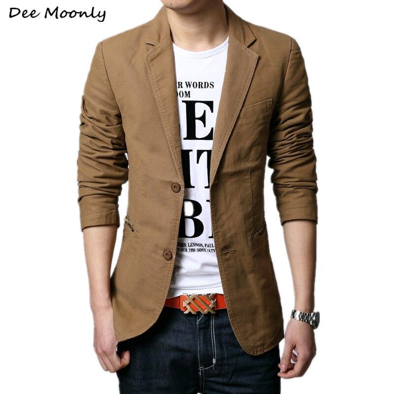 2015 Осенняя новинка Мужское модные приталенный повседневный блейзер Модные дизайнерский пиджак для мужчин 3 цвета M~XXXXXL