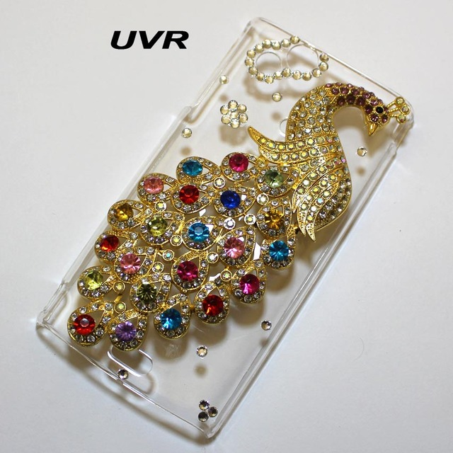 For Sony X12 Case Cover, Handmade Bling 3D Peacock Phone Case Cover For Sony Ericsson X12 Xperia Arc LT15i Xperia Arc S LT18i
