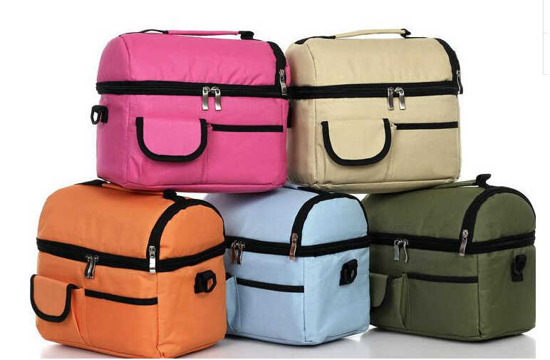 Bolsa de almuerzo portátil, bolsa de Picnic, bolsa de hielo aislante, caja de almuerzo para calentador de alimentos, Kit de Camping, bolsa de mano (137)