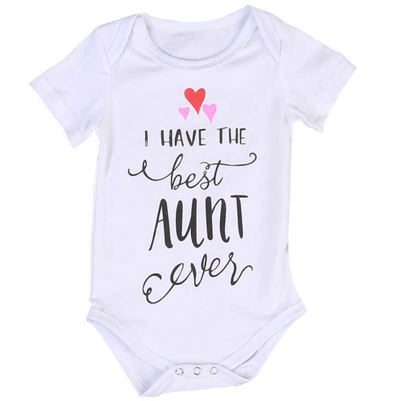 7209da8dde8d Detail Feedback Questions about I HAVE THE BEST AUNT Newborn Infant Baby  Boy Girls Kids Cotton White Jumpsuit 2017 New Summer Bodysuit Clothes Outfit  on ...