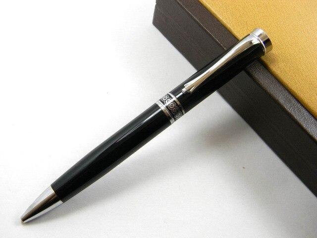 Noir et argent pièce de bon augure nuages classique stylo À bille