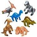 6 Unids/lote Inflable Modelo de Dinosaurio Jurásico Parque Inflable Juguetes Para Niños Regalos de la Fiesta de Cumpleaños Del Favor Del Bebé Temprano Educativo