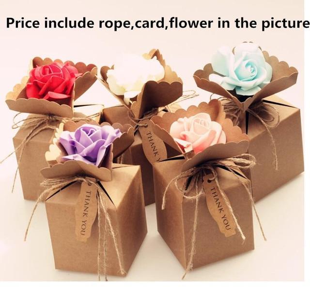 Qi Size9910cm 25pcs Lot Small Gift Box Cute Wedding