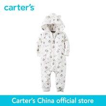 Carter's/1 шт. для маленьких детей дети флис с капюшоном отпечаток лапы комбинезон 118G657 продается из официального магазина Carter's в Китае