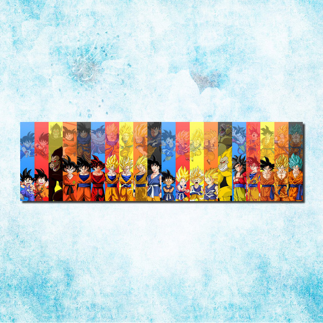 Dragon Ball Z Goku Fighting Art Silk Canvas Poster