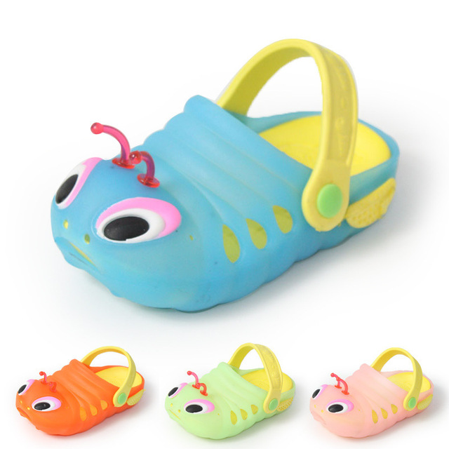 Cute Baby Boy Girl Summer Slippers Cartoon Style Kid Mules Clogs Unisex Children Breathable Anti-sliper Sandal Beach Shoes