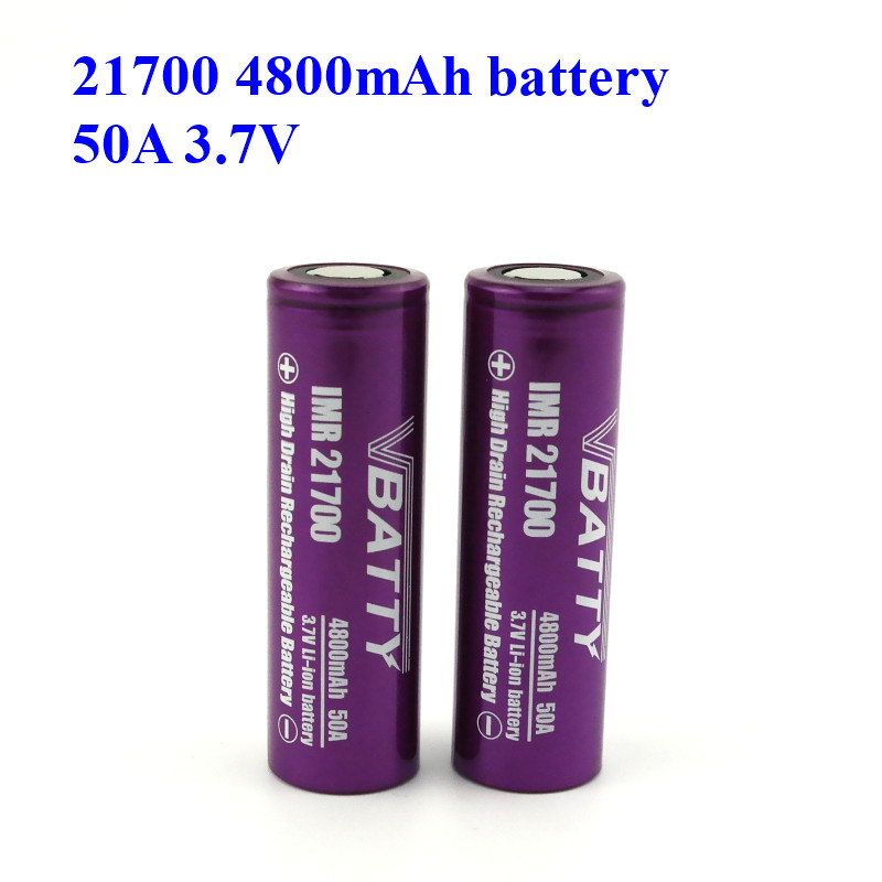 Powerful 21700 Battery 4800mah High Capacity With 50A High Discharge Rate 3.7V 21700 Rechargeable Battery Wholesale Price(1pc)