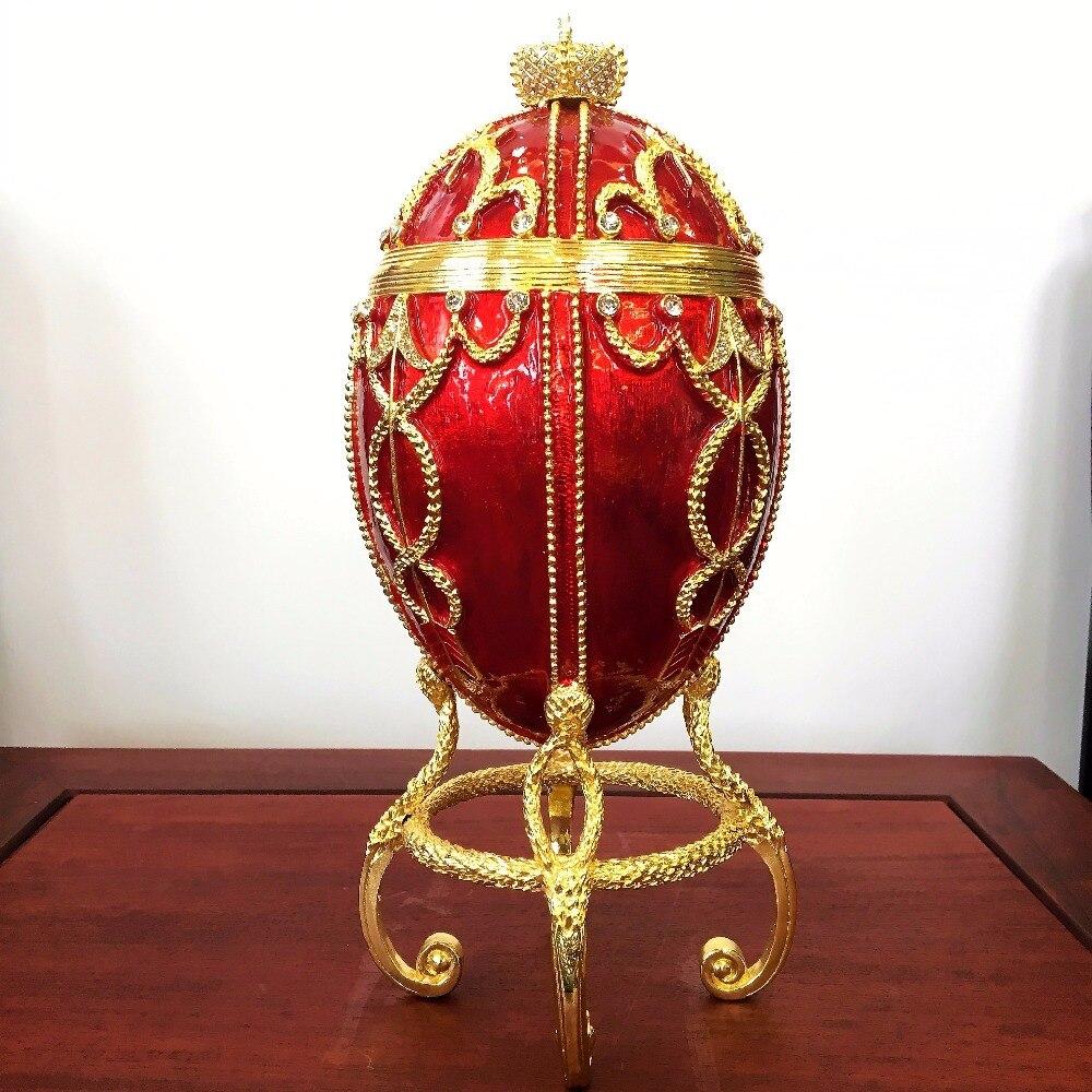 Qifu home decoration 1895 Rosebud qifu faberge egg with carriage replica for home decor