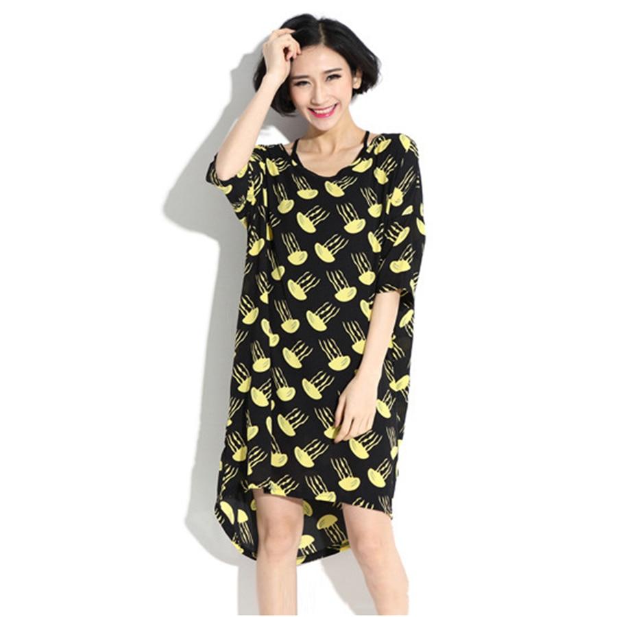 ФОТО Women Dress Pregnancy Dresses Cotton Clothing Maternity Loose  Pregnant Dresses Jellyfish Print Chiffon Lovely Dress New 70R067