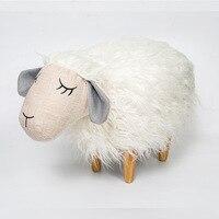 15%, Новый высокое качество LovelyHippo форма детская обувь скамейке плюшевые овец тканевый стул зал деревянный стул