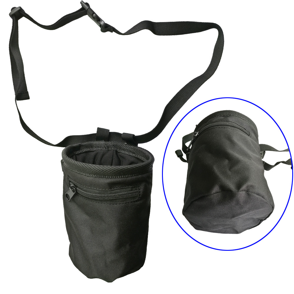 Logo Printing Magnesia Sack Rock Climbing Chalk Bag Pouch with Chalk Belt Zippered Pockets for Weigh