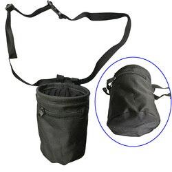 Magnésia Saco Escalada Chalk Bag Bolsa com Bolsos Com Zíper para o Levantamento de Peso Cinto Giz Ao Ar Livre Boulder