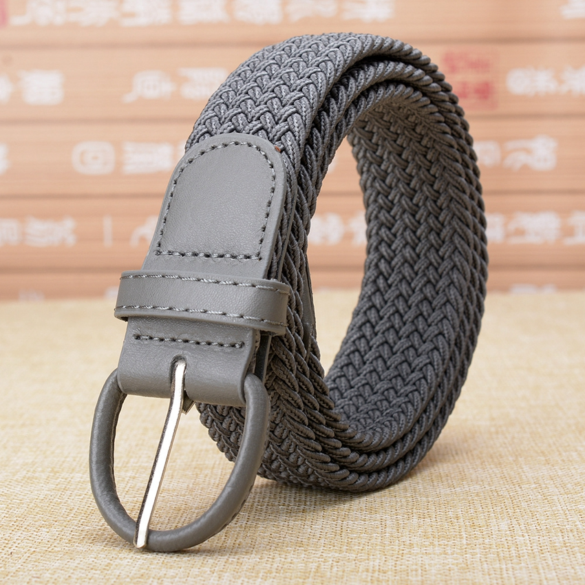 HDNYK Hot Sale Women's Elastic   Belts   Adult Solid 100-120cm Casual Stretch Woven   Belt   For Jeans Elastique Modeling