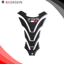 KODASKIN Motorcycle Real Carbon Gas Cap Tank Pad Sticker Decal Emblem for DUCATI Monster 795