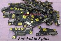 1 pçs original usb porto de carregamento doca cabo flexível para nokia 7 plus 7 p carregador plug placa conexão peças reposição