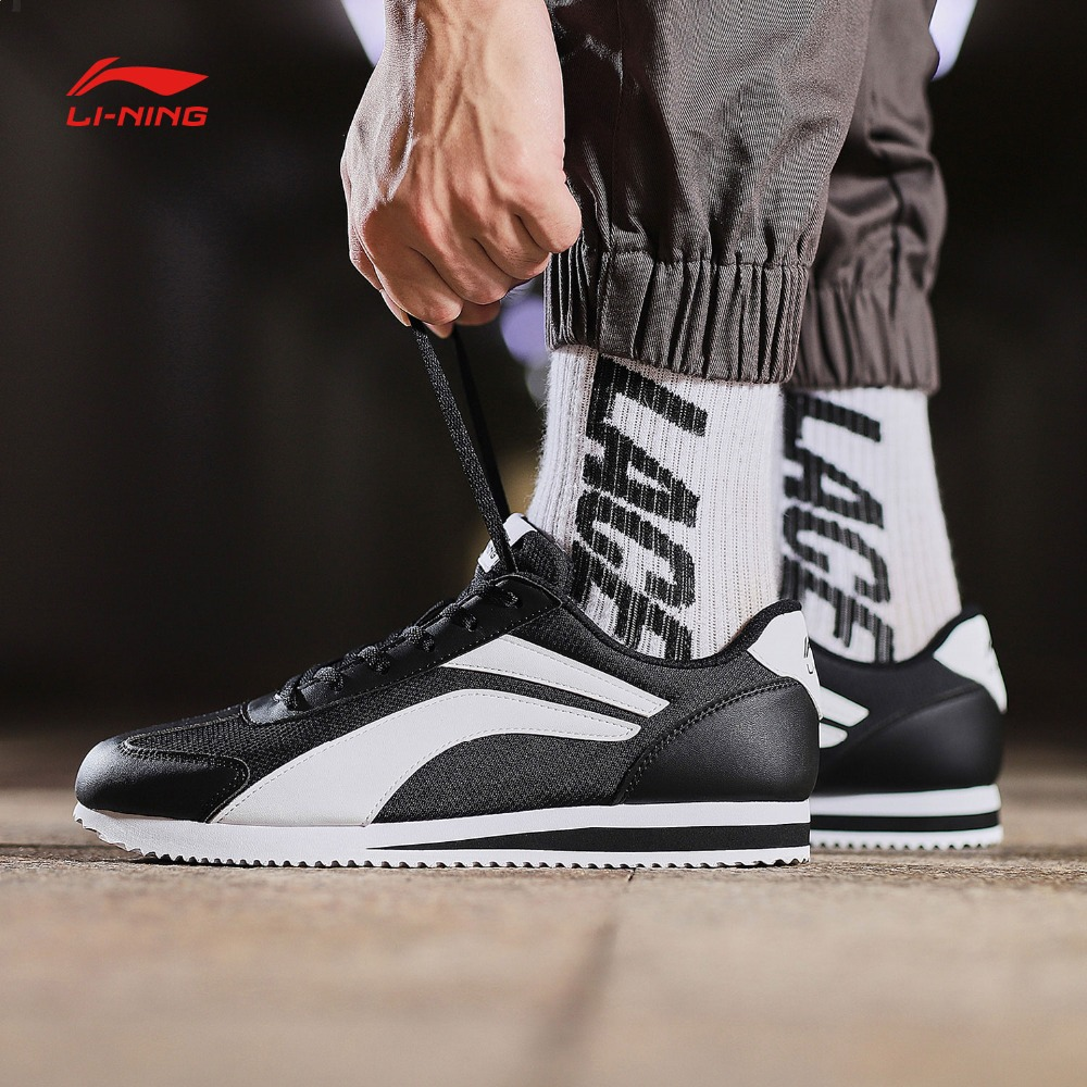 Li Ning Men 3KM Classic Walking Shoes Light Weight Wearable Comfort LiNing Sport Shoes Fitness Sneakers