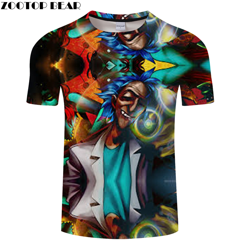 2018 3D MEN Tee Short Sleeve tshirt Cartoon t shirt Funny Evil Smile Casual Summer t-shirt Round Neck Top ZOOTOP BEAR Plu