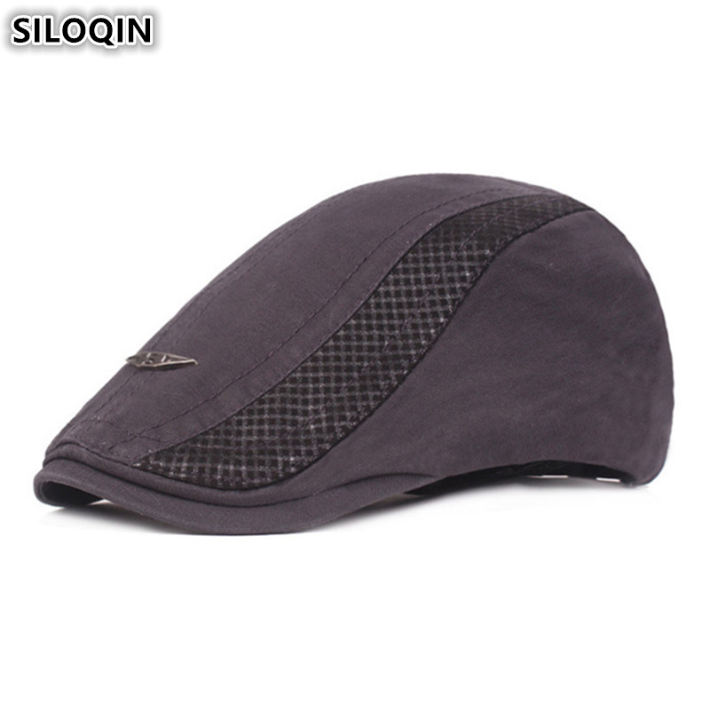 SILOQIN 2019 New Adult Men 39 s Cotton Berets Sombrero Adjustable Size Simple Personality Hip Hop Cap British Young Men Dad 39 s Hat in Men 39 s Berets from Apparel Accessories