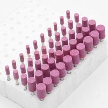 10 pz Cilindrico In Ceramica Montato Punto Rettifica Testa di Pietra Trapano Dremel Utensili Rotanti mola Abrasiva Rettifica testa Ruota
