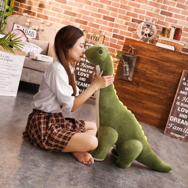 50~120cm Cuddly Dinosaur Tanystropheus Stuffed Toy Plush Dino Blue/Wine Red/Green/Pink Girls Boys Xmas Plushie Gift 1