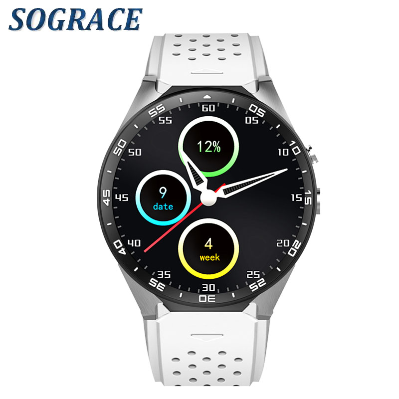 SOGRACE Smart-Watch 3G Bluetooth Smartwatch 2018 KW88 Heart Rate Tracker Waterproof Watch Phone Smart Watches Y116