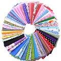 Nanchunag Color al azar de tela de algodón impreso Patchwork paquete para coser gordo Scrapbooking patrón 10x10 cm x 30 unids/lote