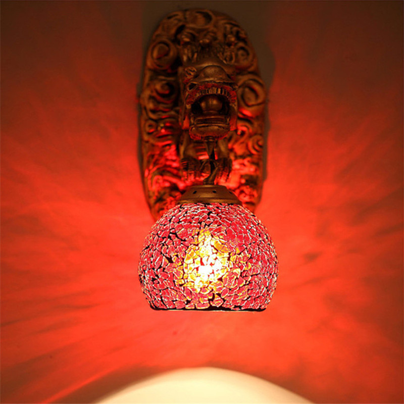 Wonderland Wall Lights China Dragon Powerful Art Wall Lamp Living Room Luxury Home Decoration Lighting Wall Led Lamp Stairs Pipe - 6