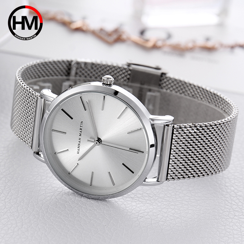 Women Bracelet Watch Luxury Brand Quartz Ladies Dresses Wrist Watches Silver Steel Mesh Female Watch 36mm Waterproof Clock Xfcs