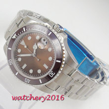 40mm hot sale Fashion Stainless Steel Man Automatic Mechanical Wrist Watch Men's Watch Sapphire Glass Date Luxury Wristwatch все цены