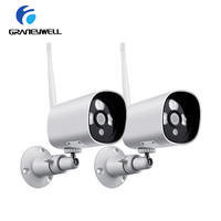 2 pcs/lot 1080P 2.0MP ONVIF Security Camera Outdoor Wifi IP Camera Waterproof IP66 Security Camera Video Surveillance Camping