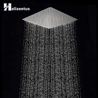 16 Inch Large Square Rain Showerhead Stainless Steel High Pressure Mount Shower Head Chrome Wall Mount Ceiling