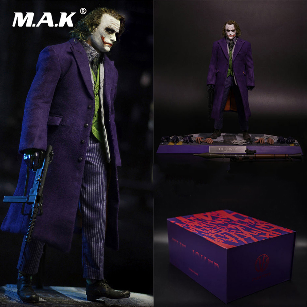 купить For Collection 1/6 Scale Full Clown Joker Planted Hair Boxed Set Action Figure With Box Model for Fans Collectible Gifts онлайн