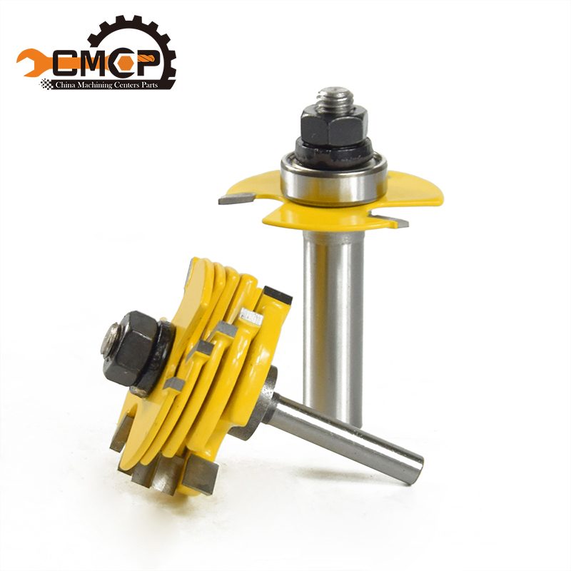 CMCP 2pcs/set 1/2 1/4 ShankT-Slot  Router Bit Adjustable 3 Wing Slot Wood Cutter For Power Tool wood Milling Cutters best price mgehr1212 2 slot cutter external grooving tool holder turning tool no insert hot sale brand new