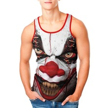 New Funny Clown 3d Tank Tops Men Sleeveless Vest T-Shirt Cute Mask 3D Print Fashion T Shirt Summer Undershirt Tanktop Dropship