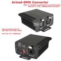 Двунаправленный преобразователь сигнала 1 шт./лот DC9 12V ArtNet DMX конвертер Профессиональный Стандартный DMX512 Выход RJ45 чистая разъемы