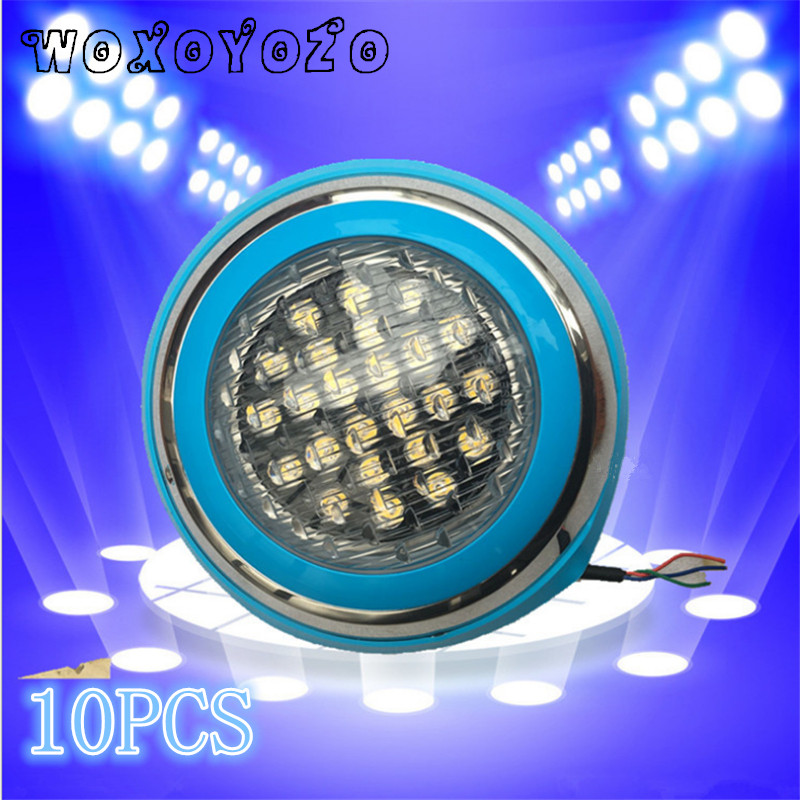 BY DHL RGB underwater Lamp Outdoor Lighting 54WPond lights led piscina LED remote control IP68 LED Swimming pool light AC 12V rgb outdoor lighting led floodlights 10w 220v 110v 12v ip65 underwater pool lamp remote control garden lamp