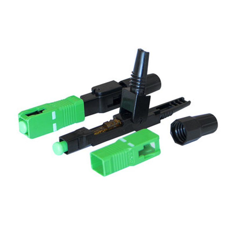 Image 3 - 100PCS FTTH SC APC single mode fiber optic SC APC quick connector