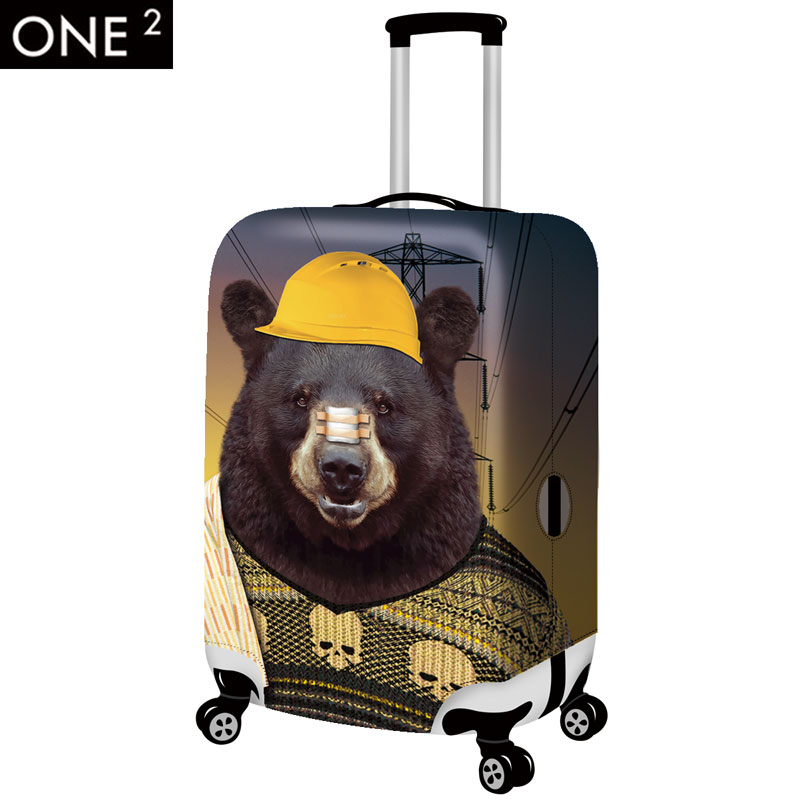 2015 Newest design 3D animal face suitcase cover and colorful luggage cover for women 18 30inch