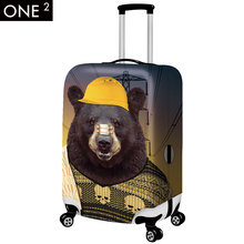 2015 Newest design 3D animal face suitcase cover and colorful luggage cover for women, 18″-30inch luggage cover