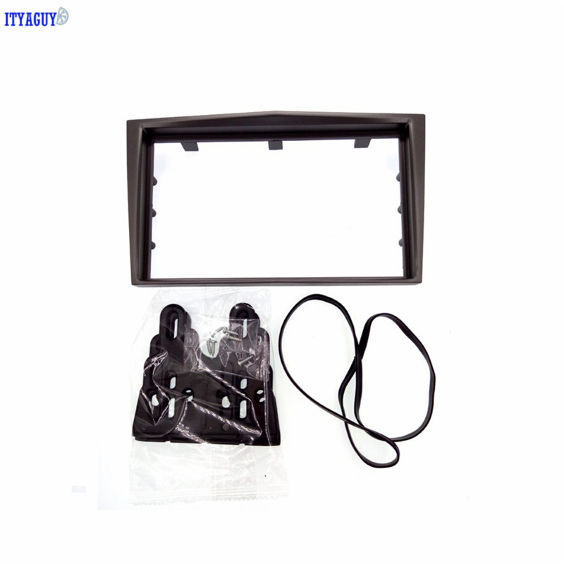 Silver 2Din Car styling Radio Fascia for 2006+ Opel Vectra