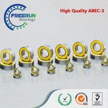 Комплект шариковых подшипников Mugen MBX8/MBX8Eco, 24 шт., метрические желтые, резиновые, герметичные