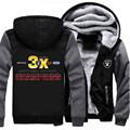 Hot Super Bowl Winter Thicken Hoodie Champions Raiders American Footballer Fan Men Women Fleece Zip Jacket Clothing Casual Coat