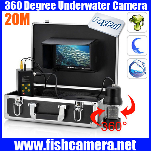 20m Remote Control SONY CCD Underwater Fish video Camera with 7 Inch LCD moniot box 20m