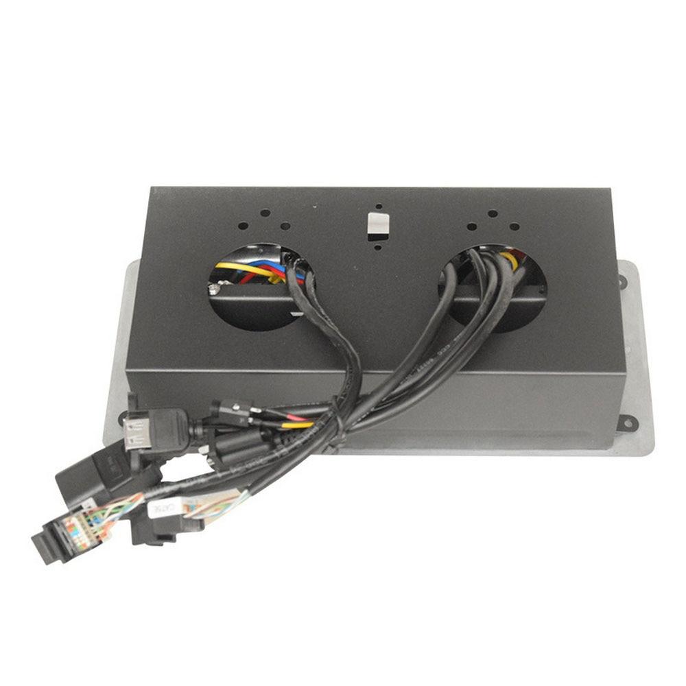 Nouvelle prise de bureau prise universelle salle de conférence POP UP Table prise en alliage de Zinc panneau VGA Audio HDMI Interface réseau USB - 3