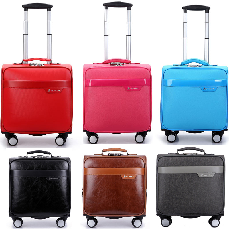 16 commercial computer trolley leather spinner carry luggage sets ...