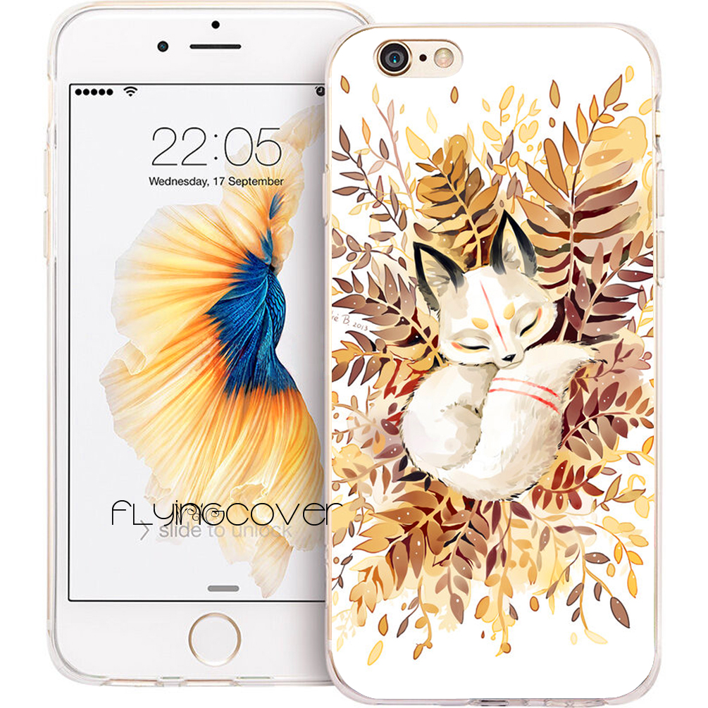 Fundas Animal Golden Fox Clear Soft TPU Silicone Phone Cover for iPhone X 7 8 Plus Case for iPhone 5S 5 SE 6 6S Plus 4S 5C Cases