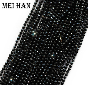 Image 2 - Meihan natural 2mm (10 strands/set) spinell seed beads faceted round for jewelry design precious fashion stone diy bracelet