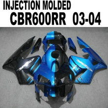 Custom motorbike Injection Molding fairing kits for Honda CBR 600 RR 2003 2004 CBR600RR 03 04 cbr600 dark blue black fairings ki