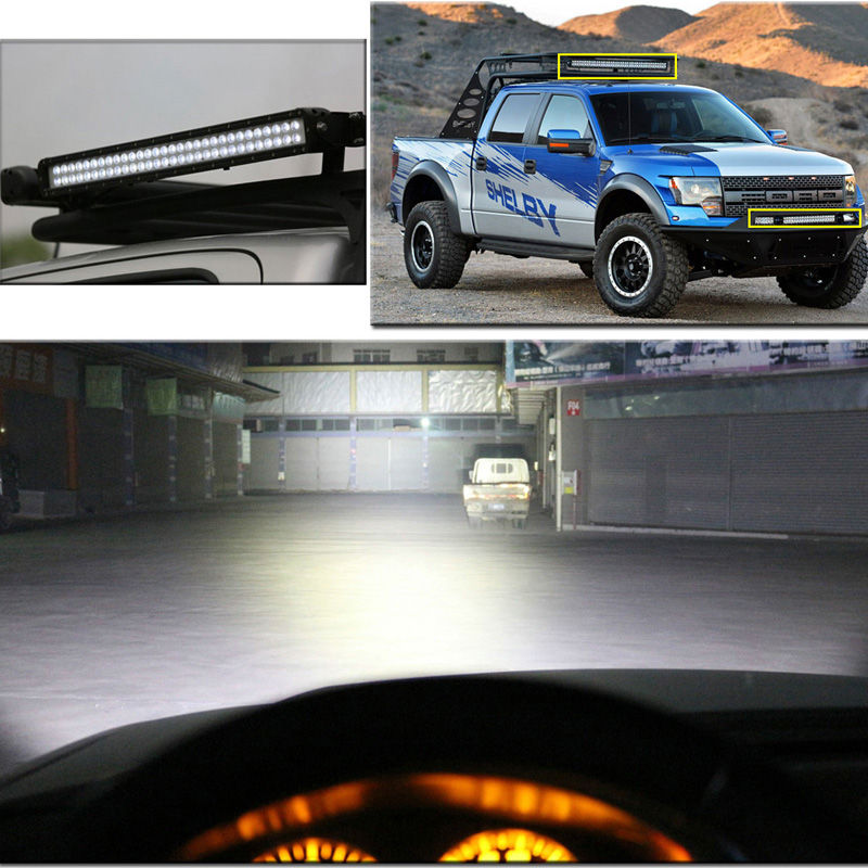 ECAHAYAKU LED Work Light Bar 50 Inch For OffRoad Boat Car Truck 4x4 SUV ATV MPV jeep Off road Fog driving Lamp spot Combo Beam in Light Bar Work Light from Automobiles Motorcycles